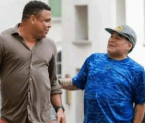 Football Legends, Ronaldo And Maradona Pictured Taking A Stroll